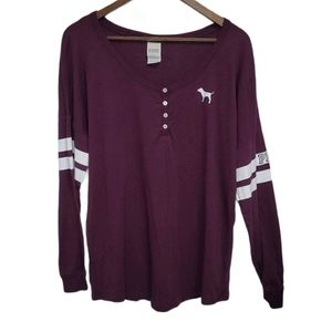 PINK VS Long Sleeve Maroon Oversize Fit To…